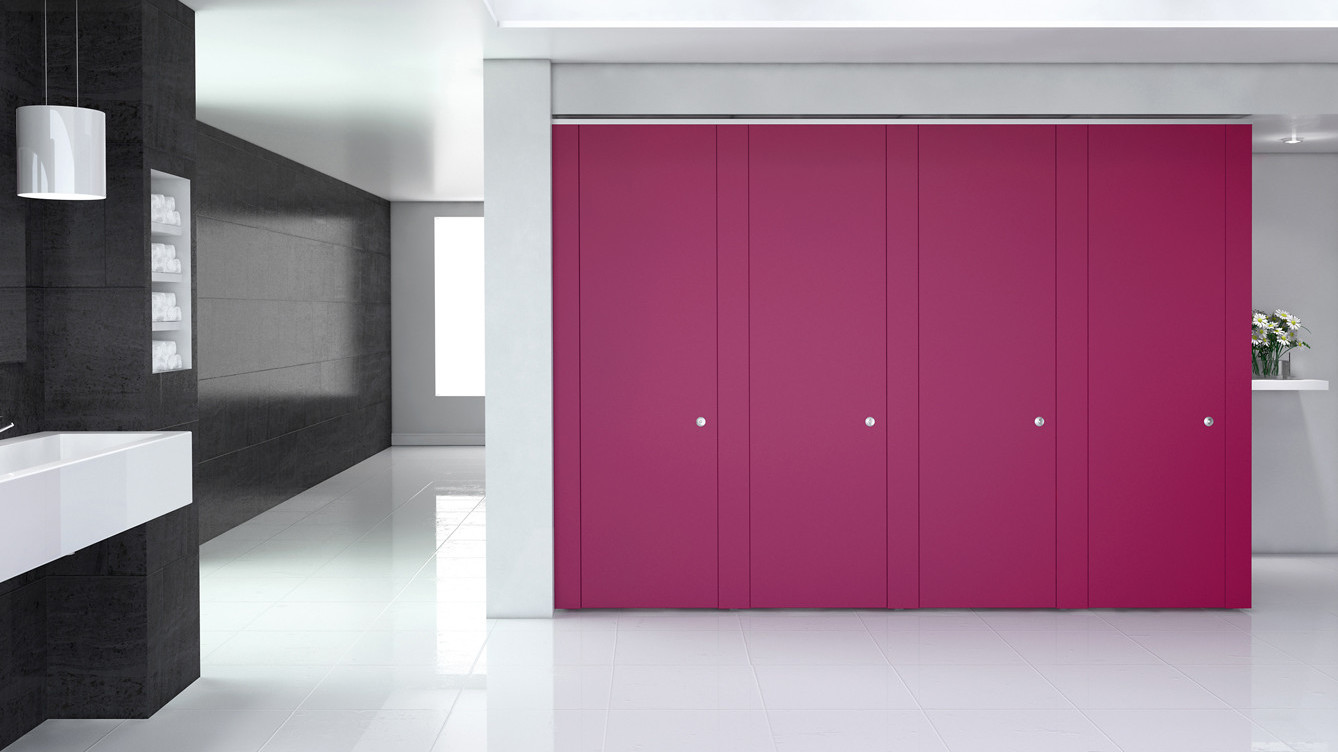 Definition ColourCoat™ Flush-fronted cubicle