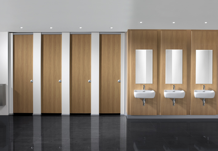 HiZone™ Full height toilet cubicle
