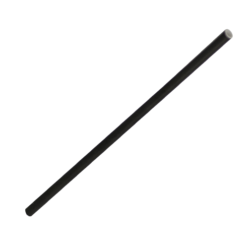 "Biodegradable Black Paper Straw 20cm (8"")"