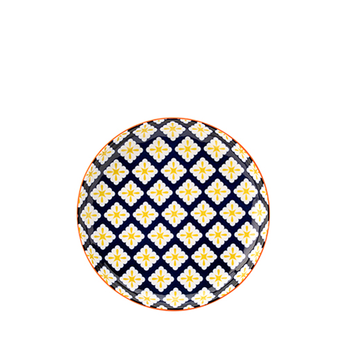 Utopia Cadiz Blue & Yellow Plate 8""