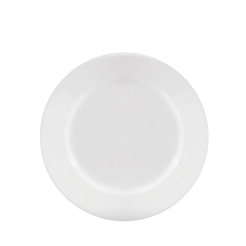 "Porcelain Winged Plate 8.25"" White"