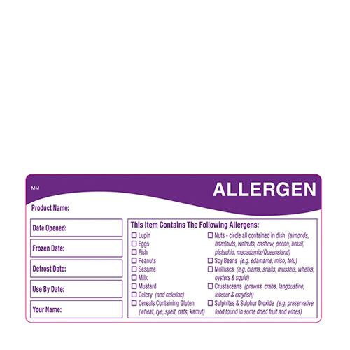 "Food Allergen Label 2"" x 4"" Purple"