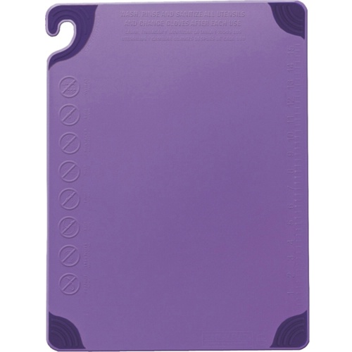 "Allergen Saf-T-Zone Chopping Board 12 x 18"" Purple"