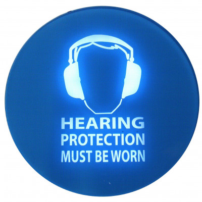 Pulsar SafeEar noise activated warning sign
