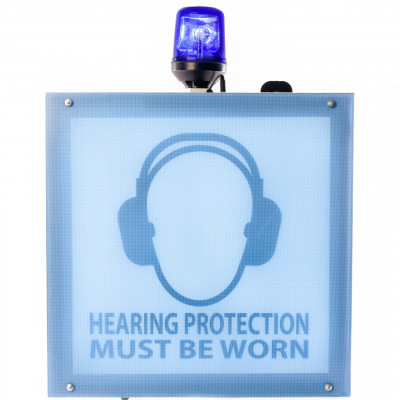 SafeEar MAX large noise activated warning sign
