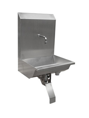Stainless Steel One Station Knee Operated Wash Trough