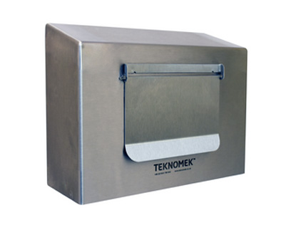 Glove Box Dispenser with Flap
