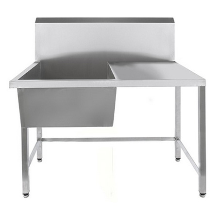 Stainless Steel Single Bowl Utility Sink with Drainer