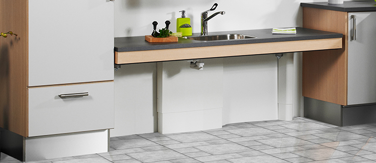 Adjustable Kitchen Worktops