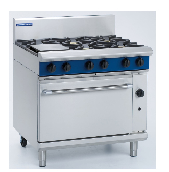 Blue Seal Range with six open burners