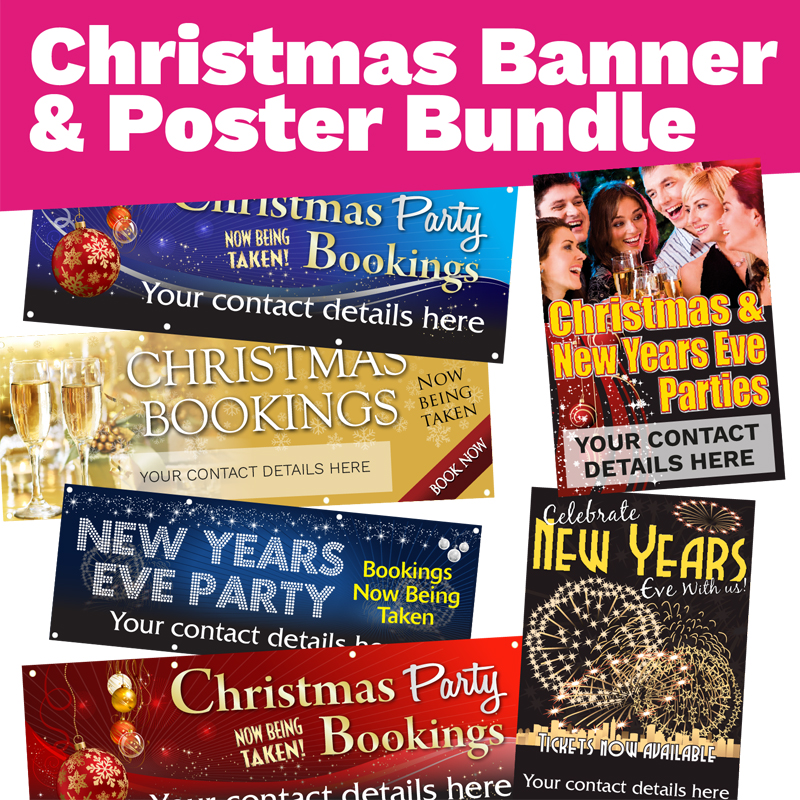 Personalised Christmas Banner & Posters Bundle