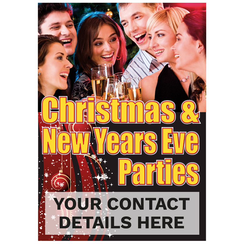 Personalised Christmas & New Years Eve Parties Poster
