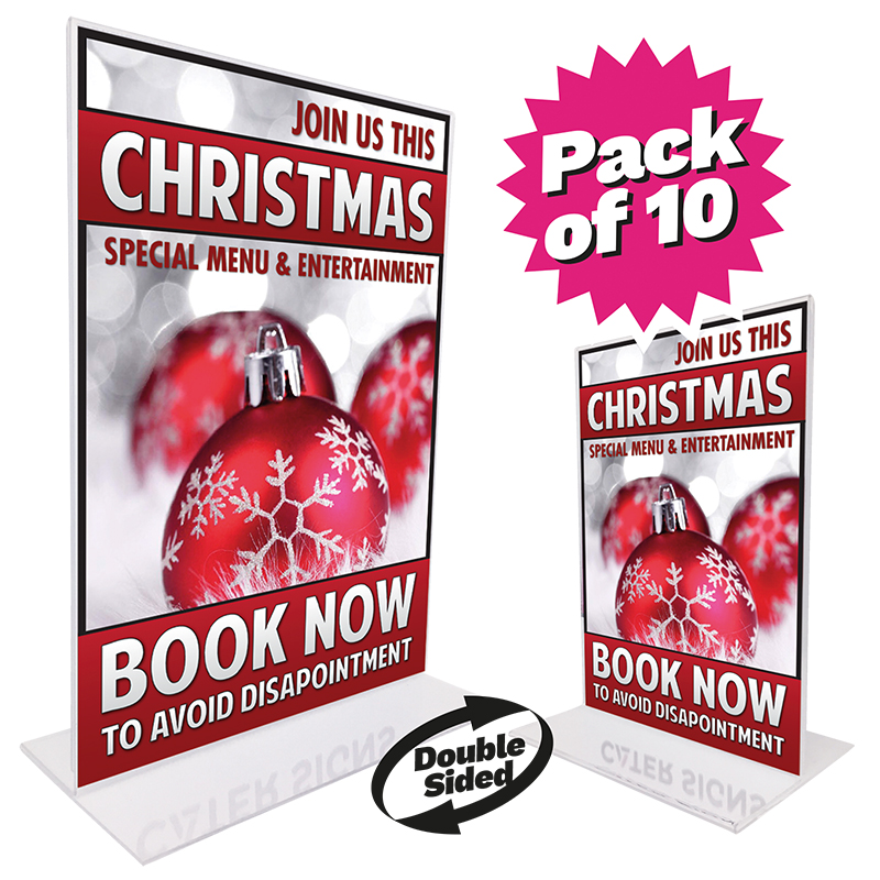 Christmas Counter Top Double Sided Poster Holder Bundles