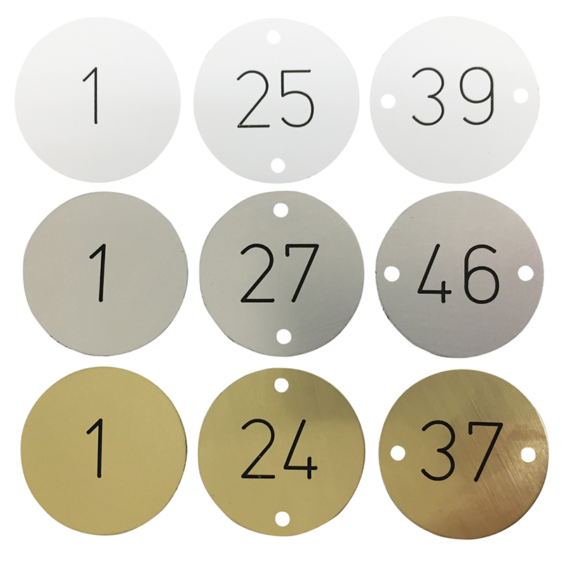 Engraved Table Number Discs