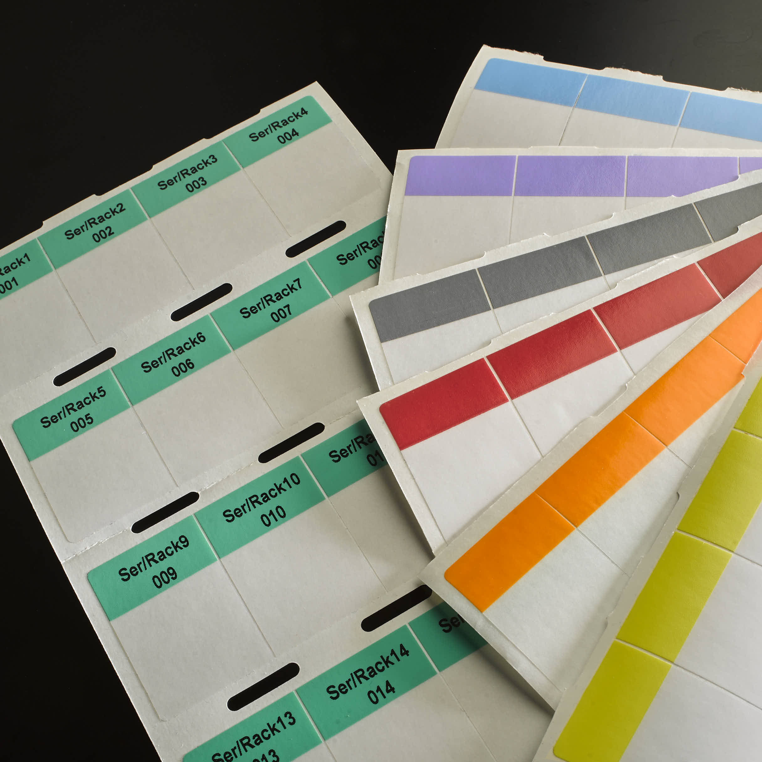 Coloured Wrap-around Cable Labels