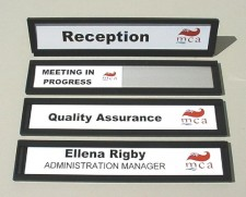 Changeable Slider Name Plates