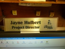 Monitor Name Plate Holders