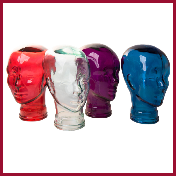 Glass head: Selection of colours
