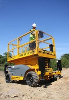 Rough terrain and caterpillar track mounted access platforms for hire
