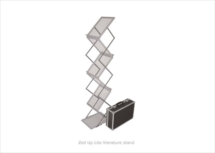 Exhibition Literature Stand : Literature stands portable leaflet displays brochure stands pod