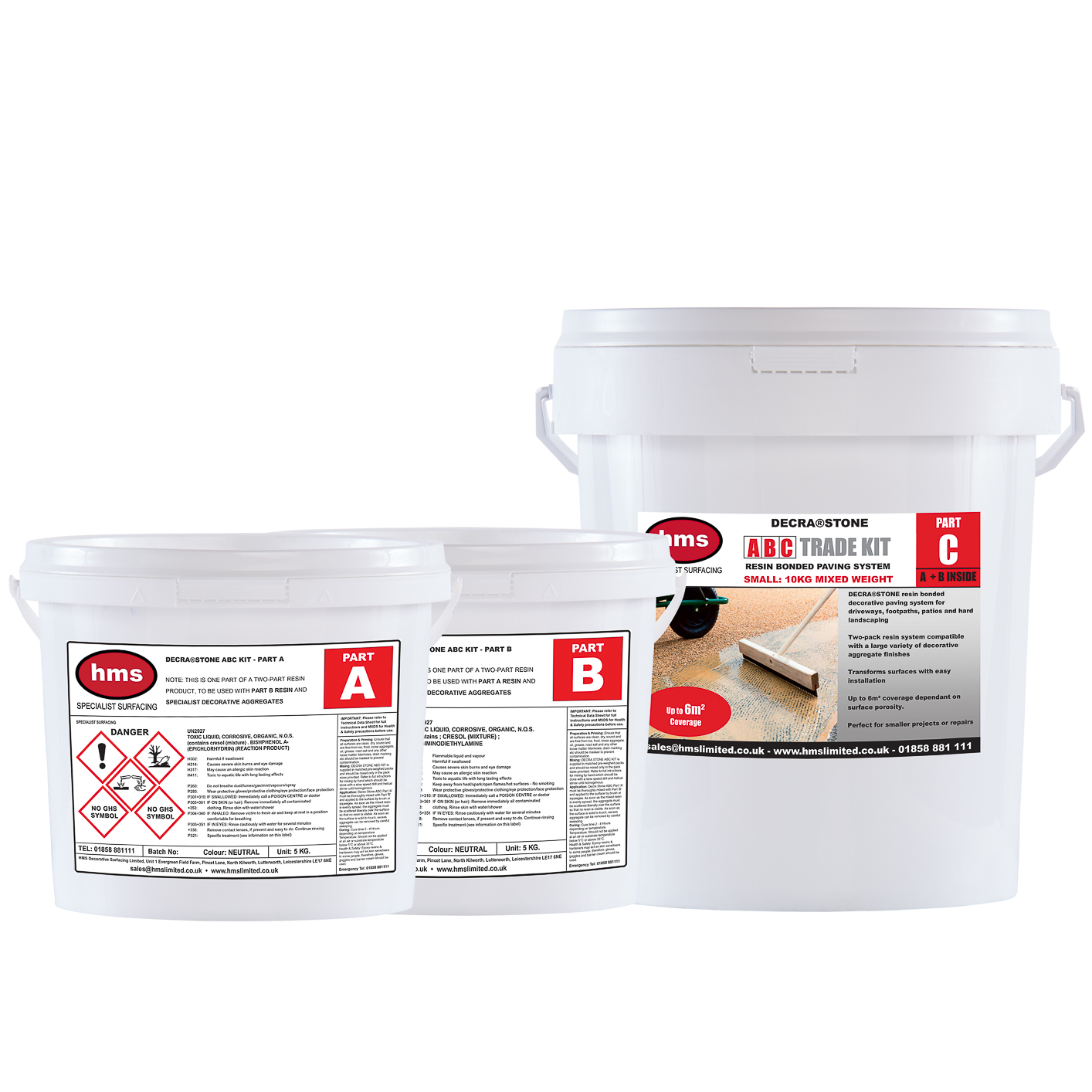 Resin Bonded 10kg ABC Small Kit - Resin only