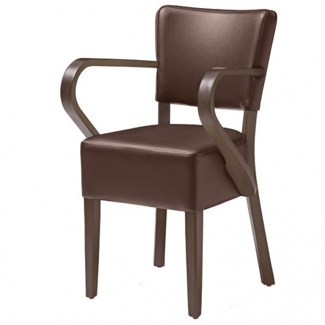 ... Belmont Brown Faux Leather Arm Chair