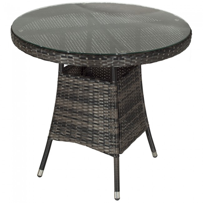 Madrid Round Outdoor Table - Glass Table Top