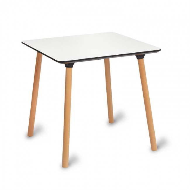 Beech 4 Leg Table with White Top