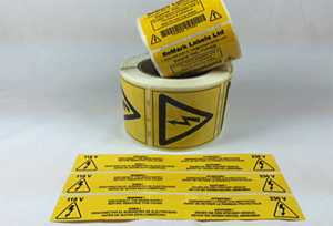 Warning, caution & hazard labels