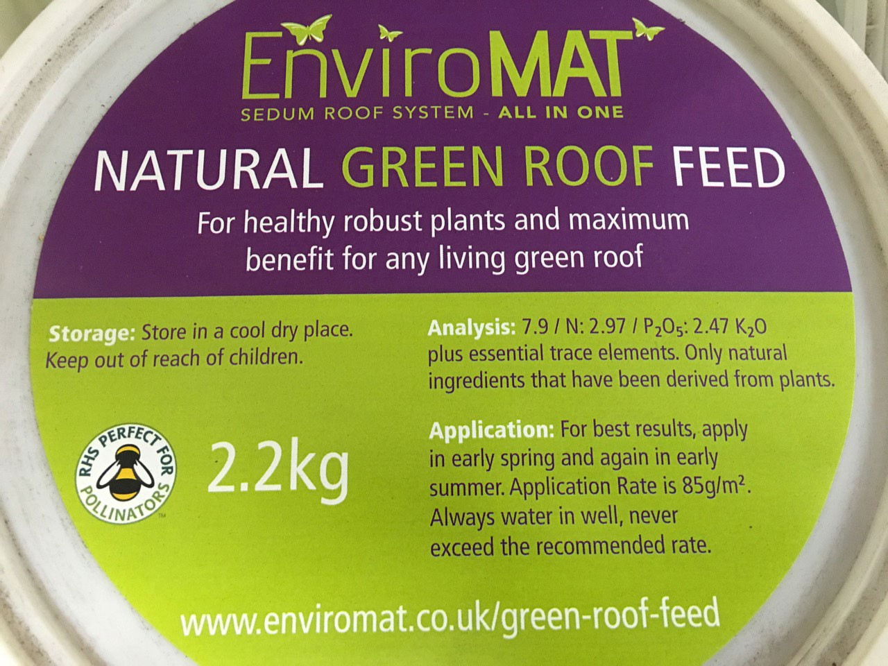 Enviromat Natural Green Roof Feed