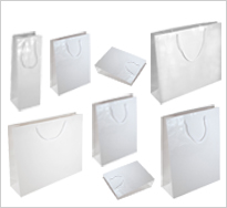 White Gloss Paper Carrier Bags