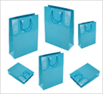 Sky Blue Gloss Paper Carrier Bags