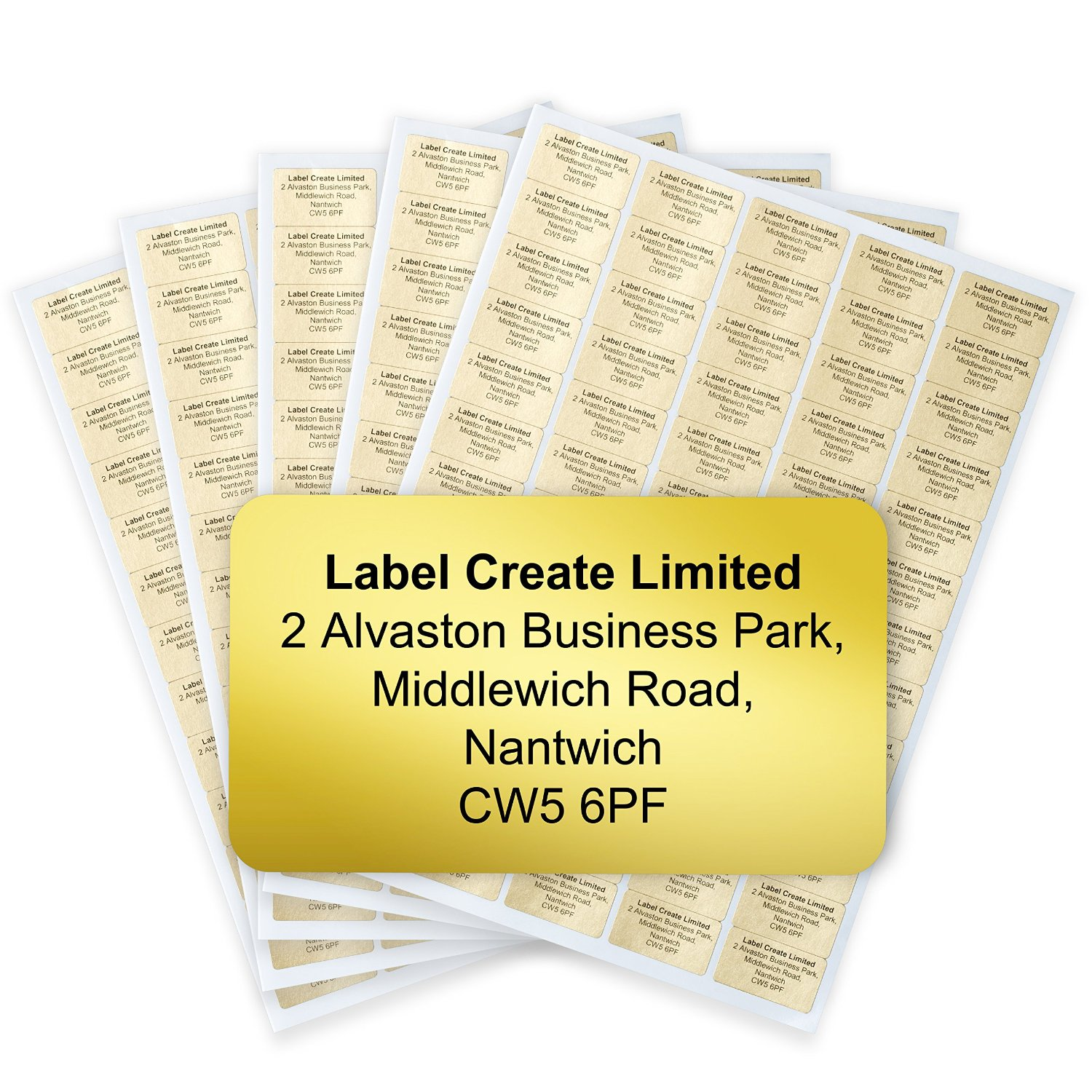 480x Personalised Metallic Gold or Silver Return Address Labels