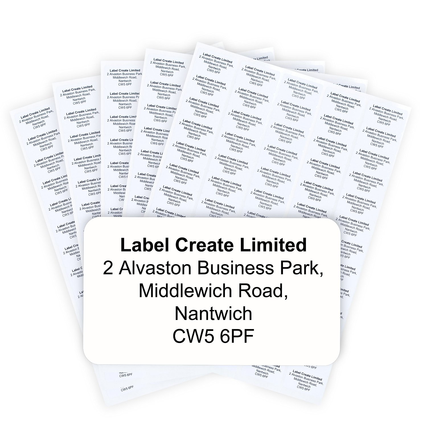 480x Personalised White Address Labels. Premium Quality Self Adhesive Material