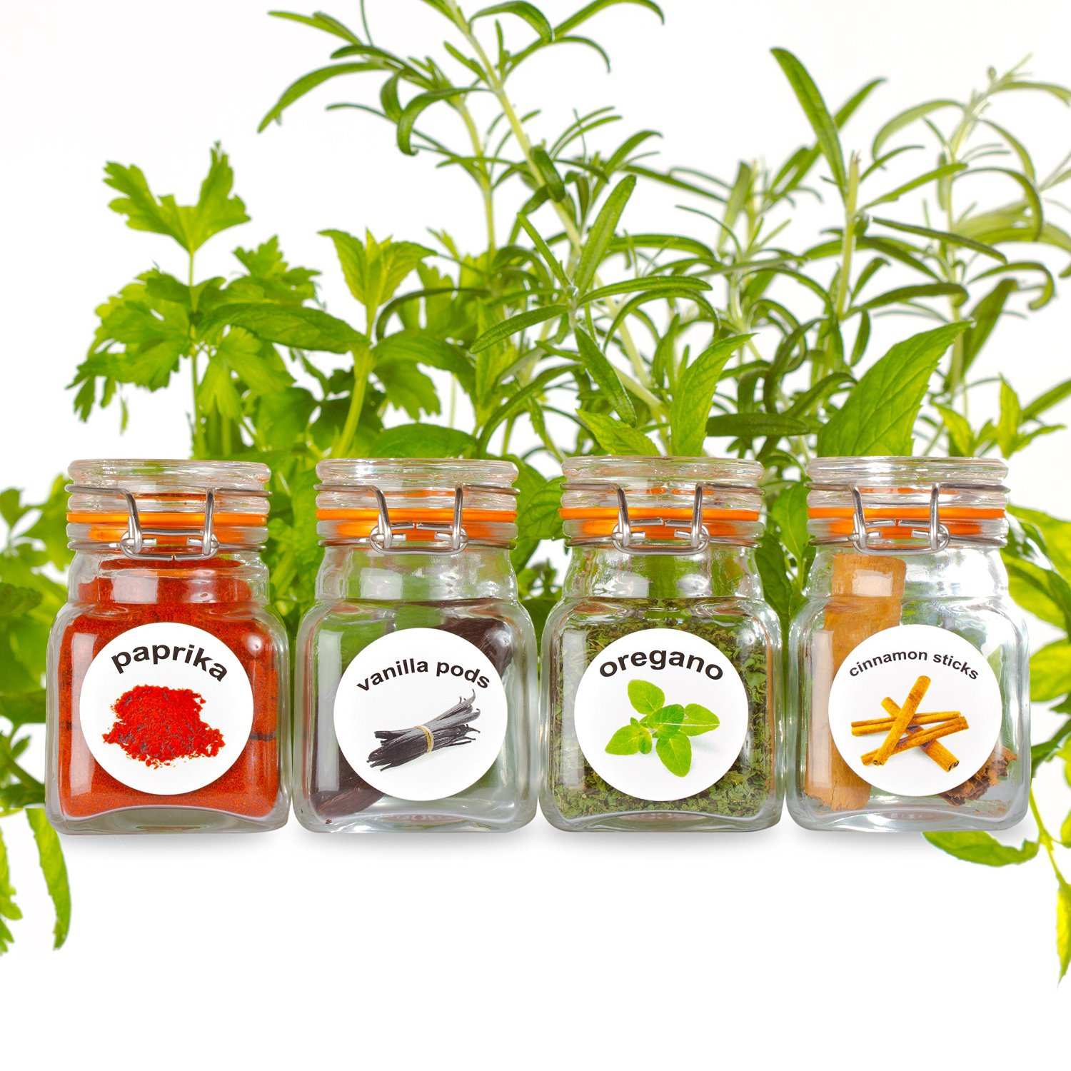 50 Washable Plastic Herb and Spice Jar Labels