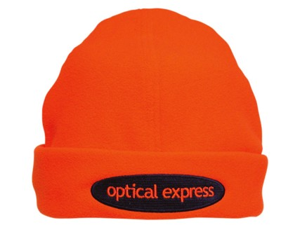 LUMINESCENT MICROFLEECE SAFETY BEANIE HAT