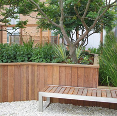 Timber Retaining Wall System