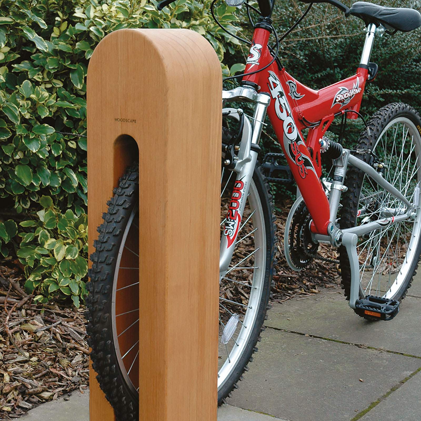 Cycle Parking Hardwood Timber Bollards