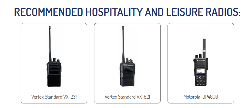 Radio Hire for Hospitality & Leisure