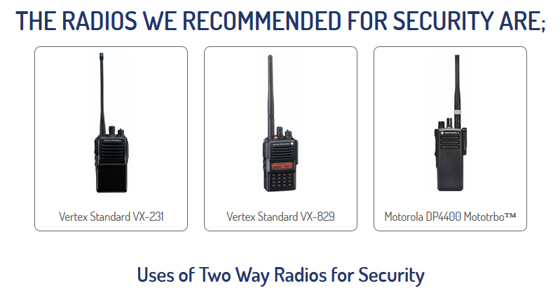 Radio Hire for Security Staff