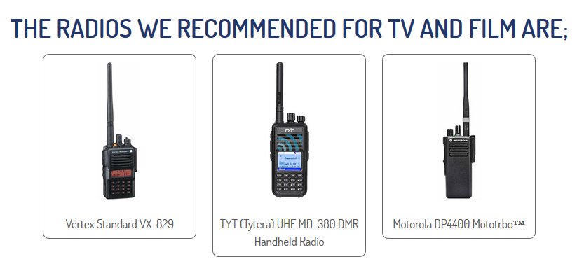 Radio Hire for TV and Film