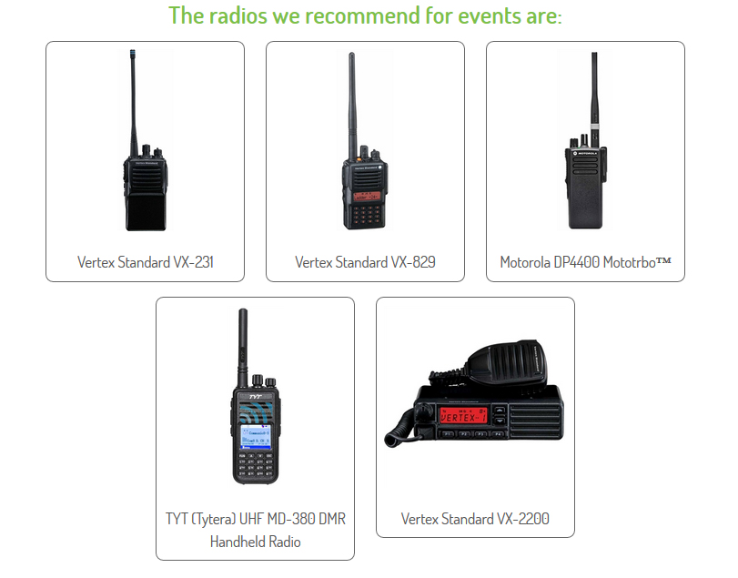 Radio Hire for Events