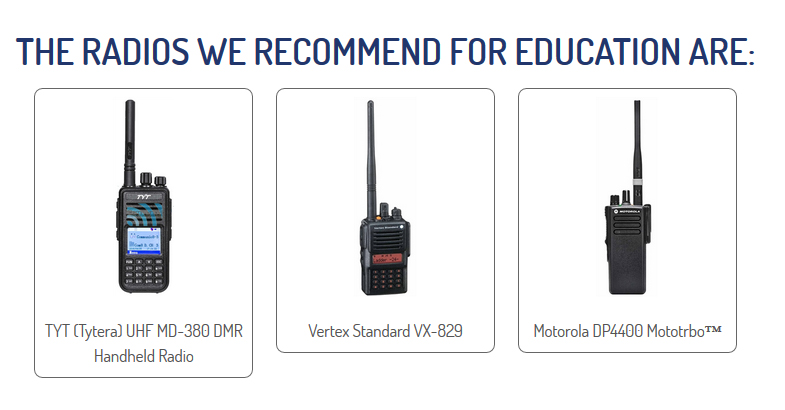 Radio Hire for Education