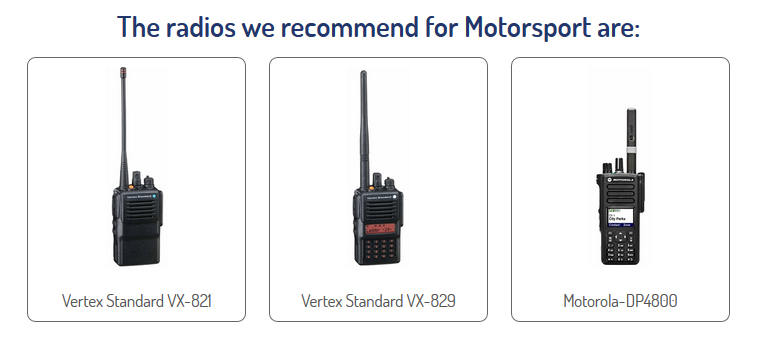Two Way Radios For Motorsport