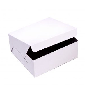 Cake Box White 7x7x3 With Hinged Lid Per 250
