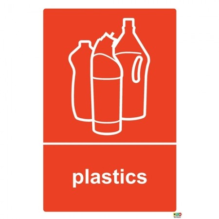 Plastic Recycling Sign/Sticker