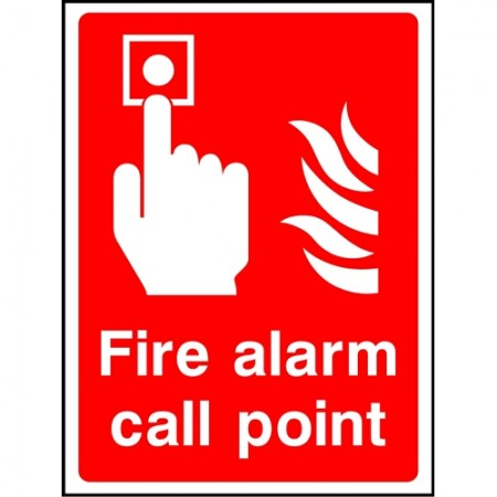 """Fire alarm call point"" sign"