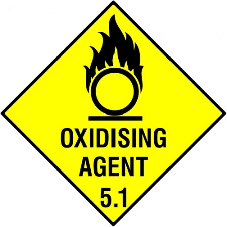 """Oxidising Agent 5.1"" warning sign"