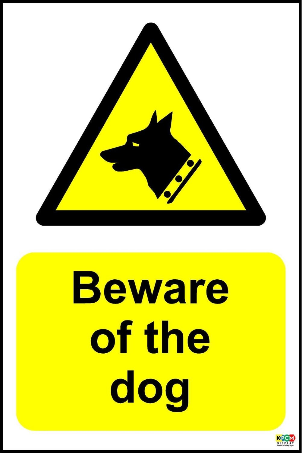 Beware of the Dog warning sticker