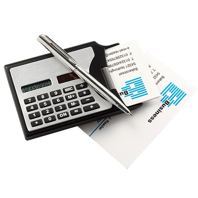 Acton Business Card Holder & Pen